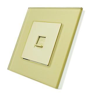 Я LumoS роскошь золото хрусталя кадр BT RJ11 телефон одной розетки