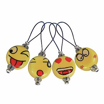Zooni: Bead Stitch Markers: Smileys