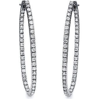 أقراط الماس - 18K 750/- الذهب الأبيض - 1.53 قيراط. - 2B908W8-3