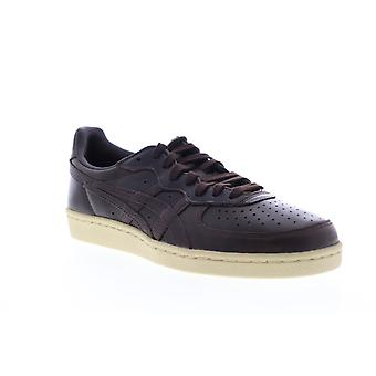 Onitsuka Tiger Gsm Mens Brown Leather Lifestyle Sneakers Shoes