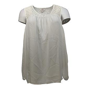 Laurie Felt Women's Top Lace Cold Shoulder Blouse White A294744 PTC