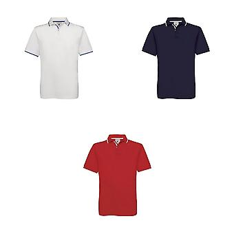 B&C Mens Safran Sport Plain Short Sleeve Polo Shirt