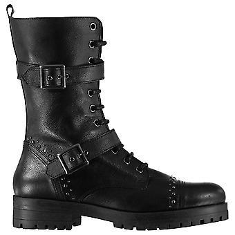 Firetrap mulheres senhoras hatti couro lace-up Biker botas militares sapatos de inverno