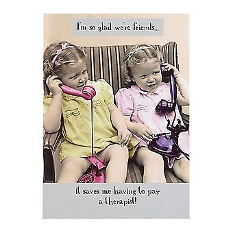 Pigment Im So Glad Were Friends - Friends Card