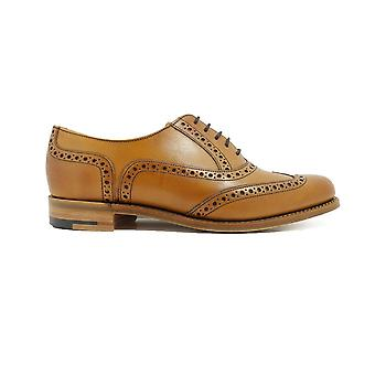 Barker Freya Cedar Burnished Calf Leather Womens Oxford Lace Shoes
