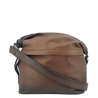 Orciani P00707microndeep Men's Brown Leather Shoulder Bag