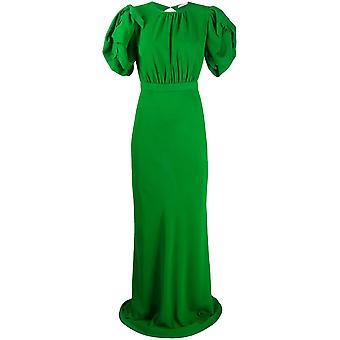 Alessandra Rich Fab2050f20601170 Naiset's Vihreä Silkki mekko