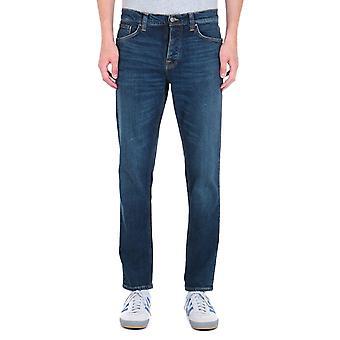 Nudie Jeans Steady Eddie 2 regular Tapered Fit Dark Blue Rinse Denim Jeans