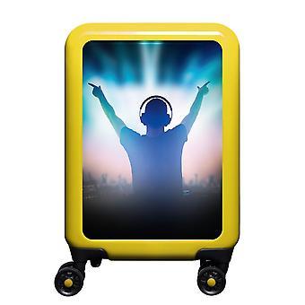myTrolley Music DJ S, 4 wheels, 55 cm, 32 L, Yellow