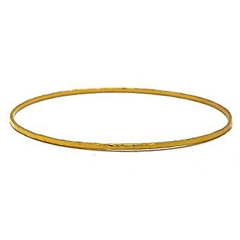 18k Gul Guld 1,5 mm Slip på manschetten stapelbar armband 7 tums smycken gåvor för kvinnor