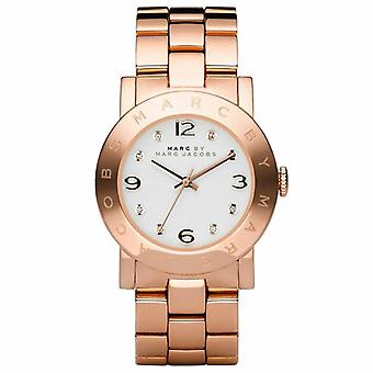 Marc Jacobs MBM3077 Quartz with Grey Dial Analogue Display and Rose Gold Stainless Steel Bangle Ladies Watch