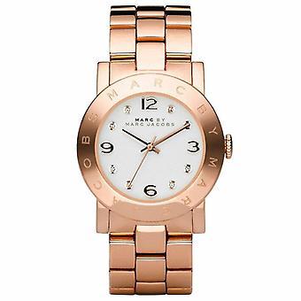 Marc Jacobs MBM3077 Quartz avec écran analogique cadran gris et montre bracelet en acier inoxydable Rose Gold