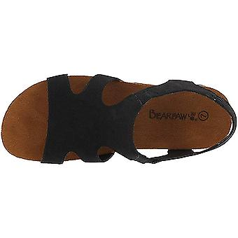 Bearpaw Womens Wilma Nubuck Open Toe Casual Slingback Sandals