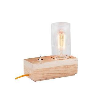 Lampada Da Tavolo Idea Color Rovere in Legno 10x10x19 cm