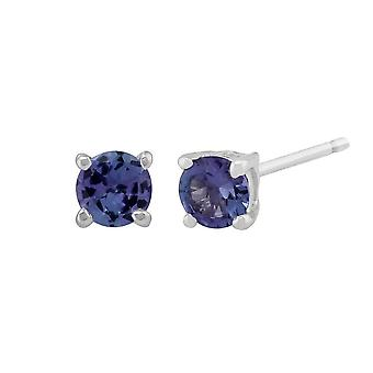 Classic Round Tanzanite Stud Earrings in 9ct White Gold 3.5mm 18937