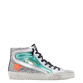 Golden Goose Gwf00116f00021580238 Women's Multicolor Leather Hi Top Sneakers