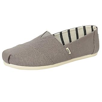 Toms men's dove grey classic heritage canvas shoes