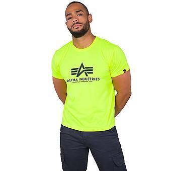 Alpha Industries férfi póló alap neon