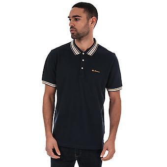 Men's Ben Sherman Fancy Tipped Polo Shirt in blau