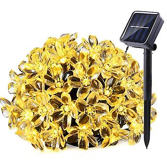 50 LEDS Peach Blossom Flower Solar Lamp