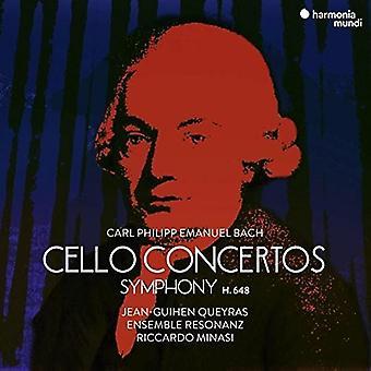 Jean-Guihen Queyras - C.P.E. Bach: CelloKonzerte & Symphonien [CD] USA import