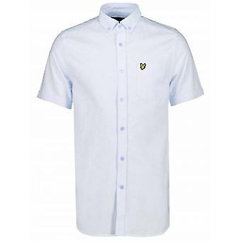 Lyle & Scott Riviera Blue Short-Sleeve Shirt