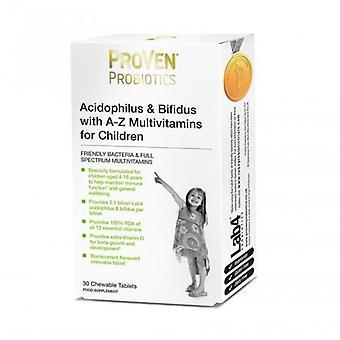ProVen Probiotics Lactobacillius & Bifidus with A-Z Multivitamins Child Tabs 30 (PR04)