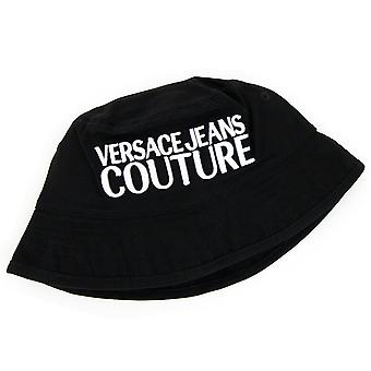 Versace Jeans Couture Logo Ricamato Pescatore Cappello Nero 899