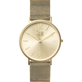 Ice city milanese Quartz Analog Women's Watch with Stainless Steel Bracelet Gold Plated IC012706