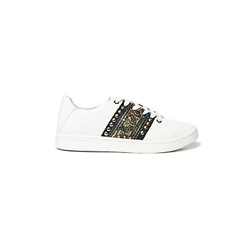 Desigual Cosmic Exotic Gold Sneakers Escarpins Convertibles avec paillettes