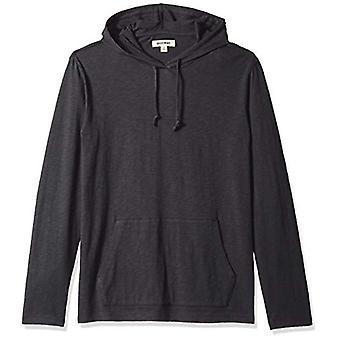 Goodthreads Męska bluza z kapturem T-Shirt, Kawior/Czarny, Średni