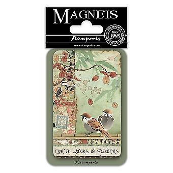 Stamperia Vögel 8x5.5cm Magnet