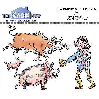 The Card Hut Farmer's Dilemma Clear Frimärken