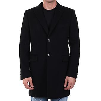Tonello 01c04017090u990 Men's Black Wool Coat