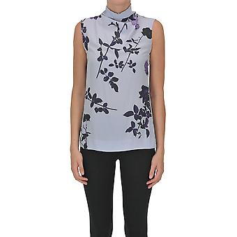 Dries Van Noten Ezgl093182 Dames's Lilac Polyester Top