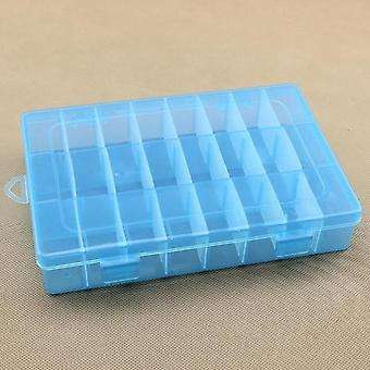 Life Essential 24 Compartment Storage Box Practical Adjustable Plastic Case