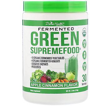 Divine Health, Fermented Green Supremefood, Apple Cinnamon, 7.40 oz (210 g)