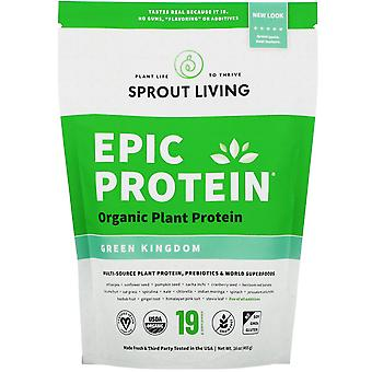 Sprout Living, Epic Protein, Organic Plant Protein + Superfoods, Green Kingdom,