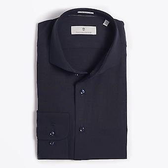 Thomas Maine  - Merino Wool Shirt - Navy