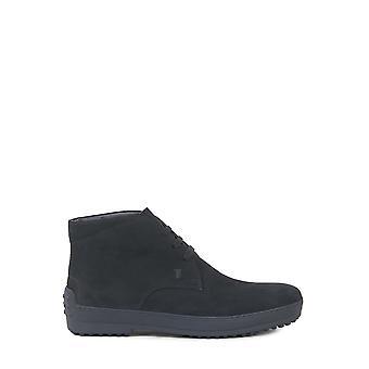 Tod's Xxm0hw0d80hseb999 Men's Black Suede Ankle Boots