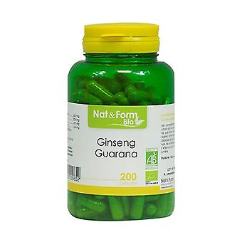 Organic Ginseng / Organic Guarana 200 vegetable capsules