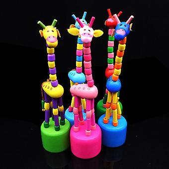 Intellectual Early Educational Wooden Animal Giraffe Shape