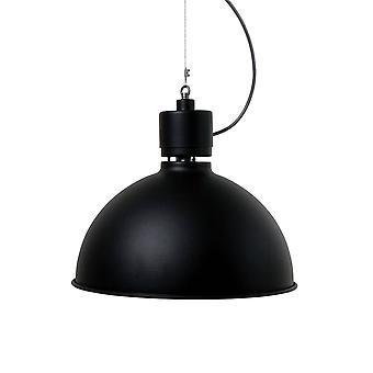 1 Light Dome Ceiling Pendentif Black Structure, E27