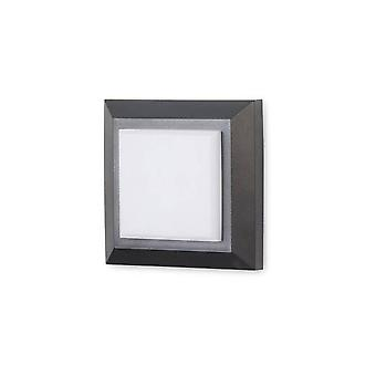 LED Outdoor Square Wall Light Black, Gris IP65