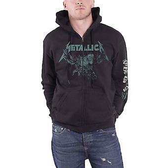 Metallica Hoodie S&M2 Skulls Band Logo novo Official Mens Black Zipped