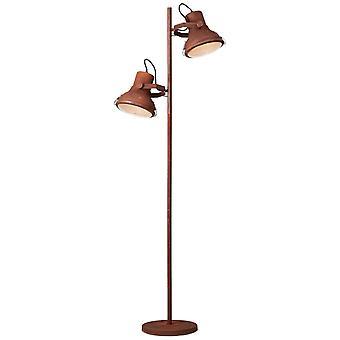 Lâmpada BRILHANTE Frodo Lâmpada de chão 2flg cor de ferrugem | 2x A60, E27, 60W, adequado para lâmpadas normais (não incluídas) | Escala