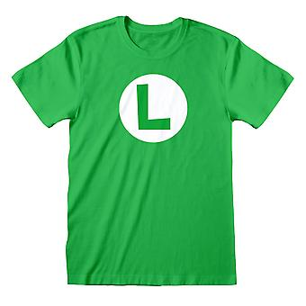 Super Mario Unisex Volwassen Luigi T-shirt