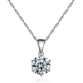 Six-jaw Zircon Pendant Necklace