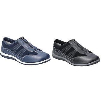 Flota y Foster mujeres/señoras Mombassa cuero slip en el zapato