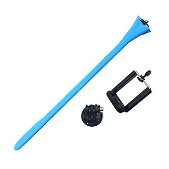 Anordsem Flexible Selfie Stick - Smartphone Vlog Tripod Selfie Stick Blue